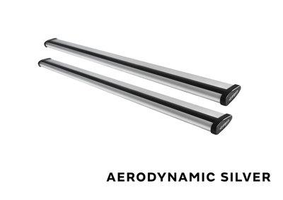 Stangset 130 cm aluminium wingbar zilver