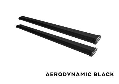 Stangset 130 cm aluminium wingbar zwart