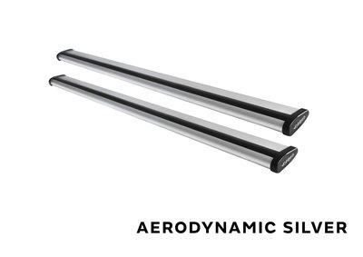 Stangset 140 cm aluminium Wingbar zilver